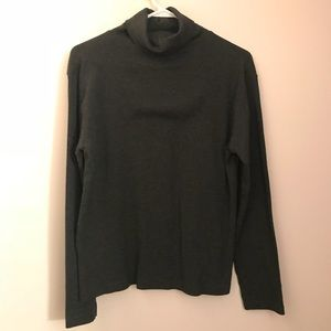 Tops - Dark Gray Ribbed Turtleneck